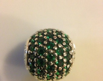 Pandora Essence Prosperity Pave Charm Genuine Designer Sterling Silver Charm/Bead Free Velvet Pouch Bag