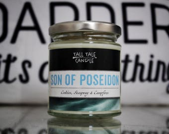Son of Poseidon  |  Percy Jackson inspired scented candle  |  Book Lovers, Book Inspired Candle, Literary Gift, Bookworms, Bookish Candle