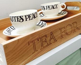 Personalised Oak Serving Tray