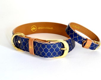 """The """"Gentleman"""" Collar / Dog collar with a matching bracelet for the owner"""