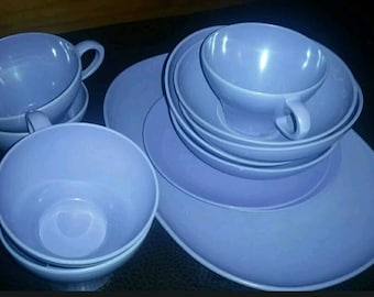 Lilac colored melamine dishes! Beautiful shade of purple!