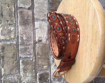 Vintage Western Style Leather Belt