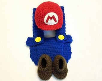 Newborn Mario Outfit Newborn Photo Shoot Cake Smash
