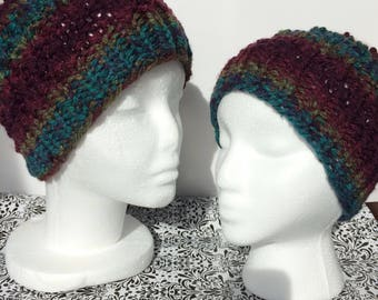 MOMMY and ME Messy Bun Beanies (Topknot Toques, Ponytail Hats)