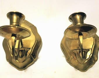 Vintage Style Handmade Solid Brass Candle Sconce
