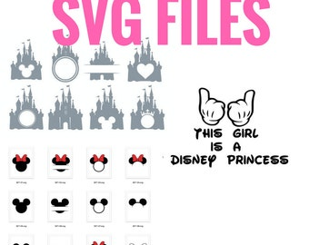 HUGE SVG BUNDLE! unlimited Cricut Machine print & cut Disney Svg files for unlimited Diy projects | best for gift for her, cute mug or shirt