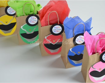 Power Rangers Party Favor Bags / Power Rangers Birthday Party / Power Rangers Party Theme
