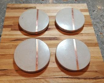 Coaster concrete with copper