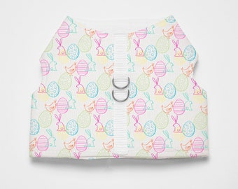 Easter/Bunny Patterned Dog/Cat Harness-Easter Patterned Textile Dog/Cat Vest Harness