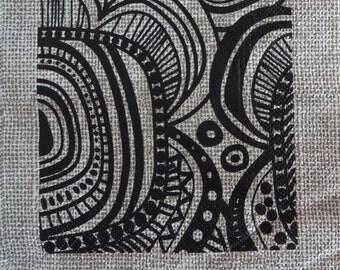 2 x Paper Kraft Napkin, Decoupage Napkin, Black Napkin, Abstract Paper Napkins, Paper Kraft, Decoupage Paper, Scrapbooking Paper (SQUARE1)