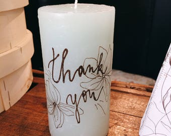 "Candle ""Thank you"""