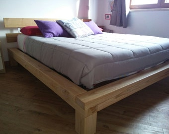Handcrafted solid wood bed