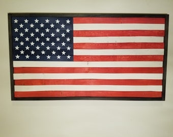 "American Flag wall art. 21""x38"""