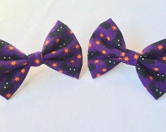 Cute Little Halloween Hair Clip Bows ~little space, ddlg, abdl, hair accessories, bats~