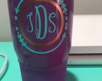 Monogramed insulated 30 oz tumbler -  you pick colors/monogram