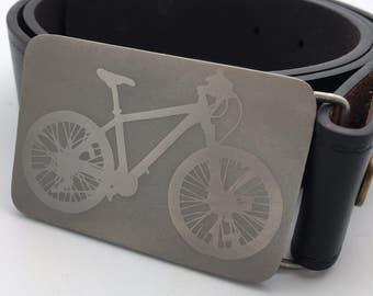 Bike belt buckle titanium bicycle belt buckle mountain bike belt cycling belt buckle metal buckle handmade belt buckle silver belt