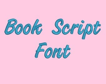 4 Sizes**Book Script Embroidery Font Embroidery design- 8 formats machine embroidery design - Instant Download machine embroidery pattern