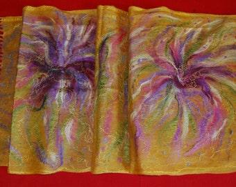 Violet Flower Scarf