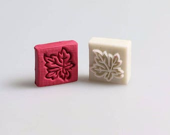 Maple Leaf Resin Soap Stamp