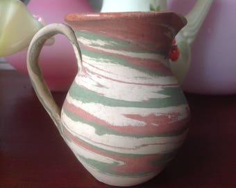 Vintage 1940's Fort Ticonderoga Pottery Pitcher by Henry Graack
