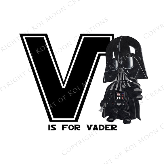 star wars letters v is for vader wars alphabet digital 8x10 24972 | il 570xN.1127553868 h4vb