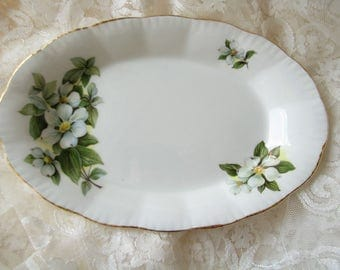 Paragon tray Paragon replacement Paragon oval dish Serving dish Paragon Dogwood Oval plate Fish serving platter Floral plate Oval Dinnerware
