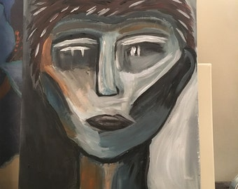 Abstract Face Original painting