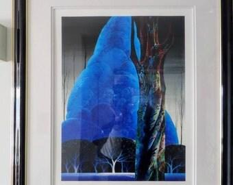 Eyvind Earle Framed Limited edition serigraph