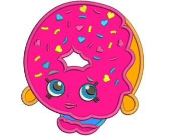 Shopkins Donut Embroidery Applique Design