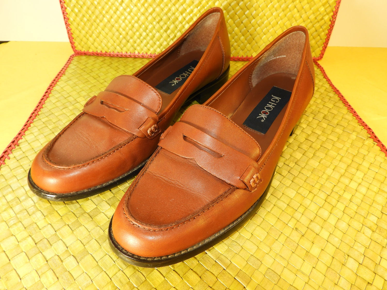 NEW Black Leather JG Hook shoes 7M Nice Heel | eBay