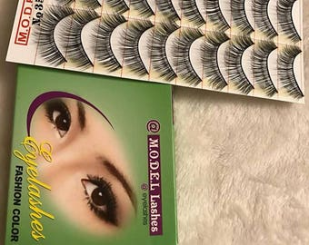 MODEL 21 False Eyelashes 10 Pairs , Brand New, Fake Eyelashes, Makeup