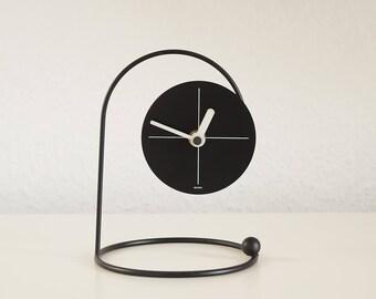 table clock post modern design 80s watch modernist desk decoration vintage - Designer Desk Clock
