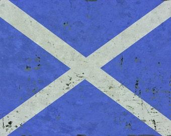 Vintage Scottish Flag Sign