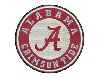 Alabama Crimson Tide Embroidery Design #1 - 5 SIZES