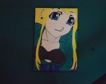Winry Rockbell, fullmetal alchemist painting (SALE)