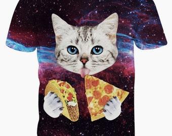 Taco pizza cat T-shirts