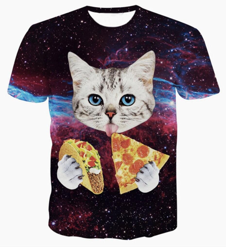 Taco pizza cat T shirts