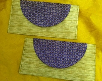 Money Clutches / Money envelope : Set of 2