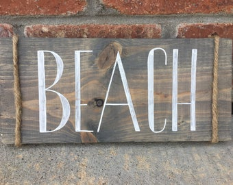 Beach Sign - Rustic Sign - Wooden Sign - Beach House Decor - Rustic Decor - Beach House Sign - Home Decor - Wood Sign