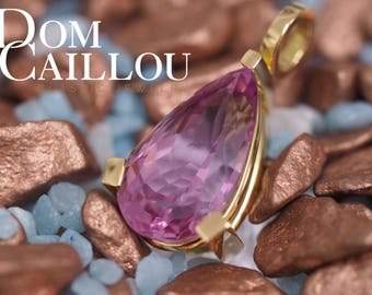 Kunzite pendants 17,41 ct 750 (18ct) Gold communications