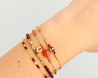 Two Colour Delicate Layering Beaded Bracelet