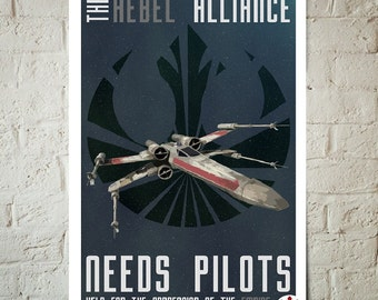 Star Wars propaganda The rebel alliance need pilots Help end the oppression of the Empire Poster