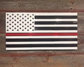 Red Lives Matter Flag/White Background