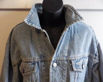1980s Gap Faded Stonewashed denim jacket size Large 50 chest