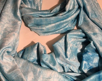 Infinity Scarf, Aqua Blue Watercolor Wash
