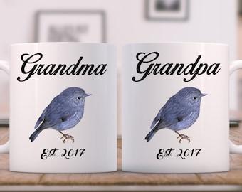 Grandparents mugs, Gift for New Grandparents, Grandma and Grandpa Mugs Pregnancy reveal mugs, reveal gift, Grandfather Mug, Grandmother mug