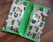 Nappy Wallet Cath Kidston Farm Animals Fabric Nappy  Wipes Holder Changing Bag Wet Wipes Pouch Nappy Clutch bag Baby Boy Gift New Mum Gift