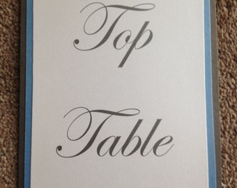 Handmade Butterfly Table Numbers