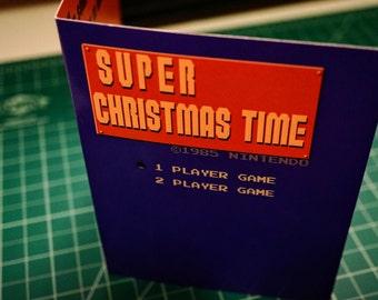 Super Mario Themed Christmas Card