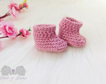 Newborn booties set - (7 COLOURS AVAILABLE) newborn booties - modern baby - baby booties - baby shower gift - baby bootees